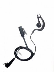 Motorola CP040, XTN, DP1400 2pin  G shape earpiece and microphone