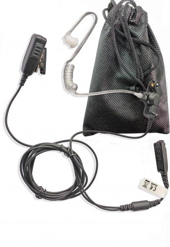 Sepura STP8038 earpiece acoustic tube 2 wire with carry case