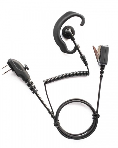 Hytera PD505,PD405, 2 pin plug G shape earpiece