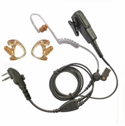 Hytera  2 pin plug 2 wire covert earpiece with earmoulds bundle